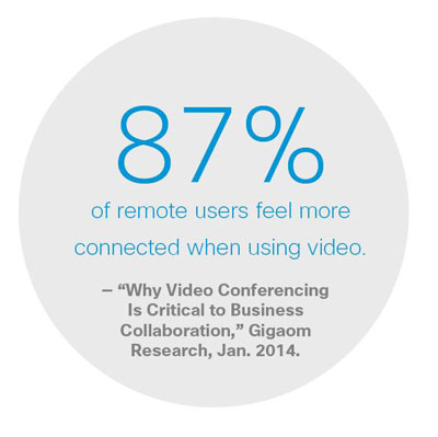 Remote users connected when using video