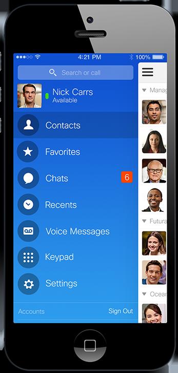 Messagerie Instantanée sur mobile