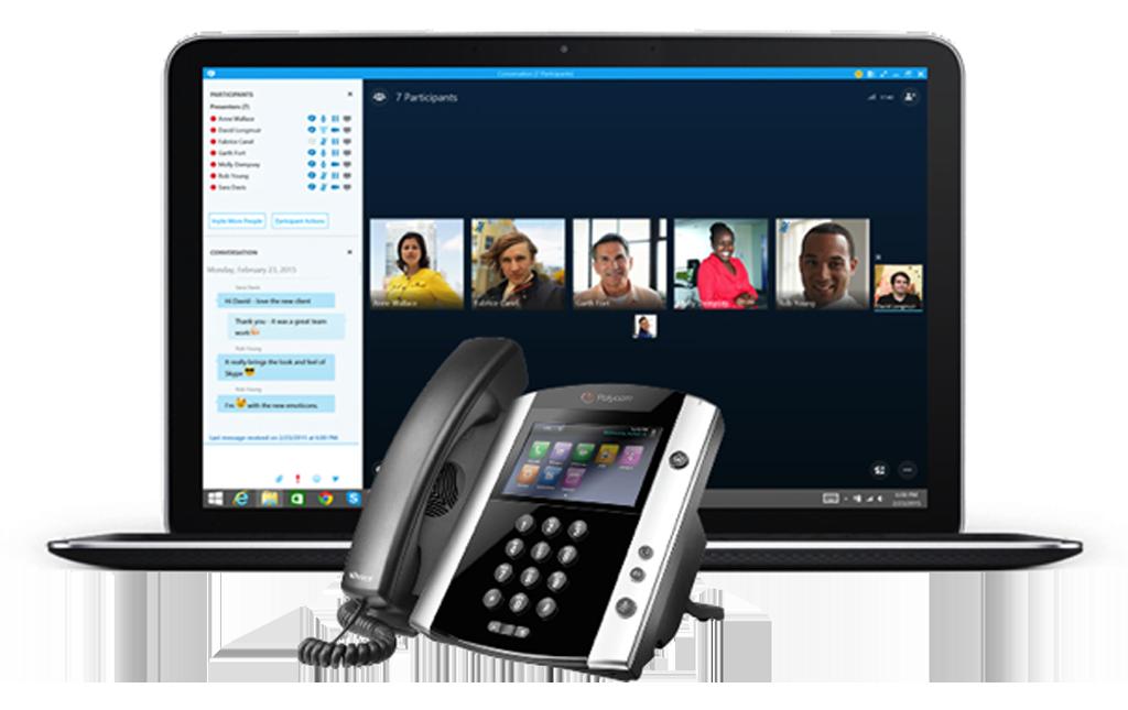 UCaaS Skype Entreprise sur tous les périphériques