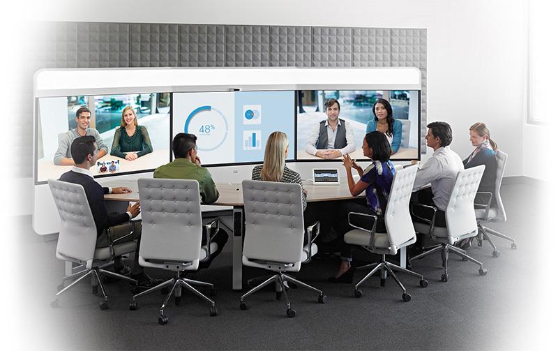 Salle de vidéoconférence immersive