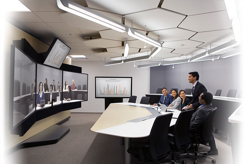 Immersive telepresence spaces - Face-to-face collaboration