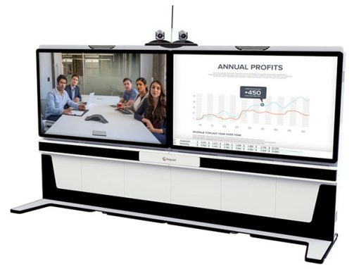 Polycom videoconferencing for large room