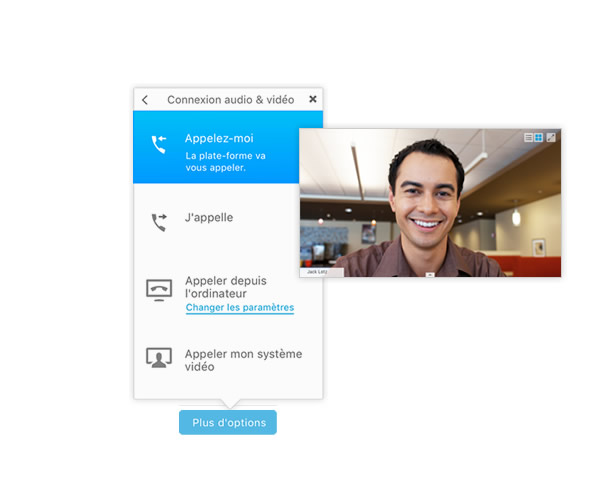 WebEx Call Me UI with Video