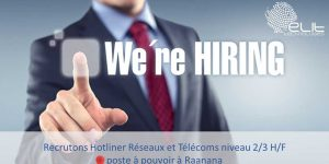 Technicien Support Hotline niveau 2-3 (H/F)