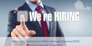 Superviseur Hotline Managed Services (H/F)