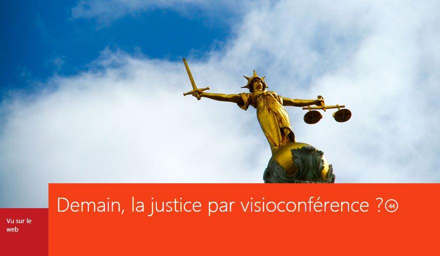 Visioconference et justice
